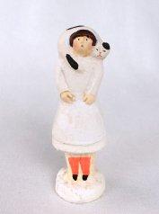 陶製人形 「ねこマフラー・牛柄ねこ」   にしおゆき