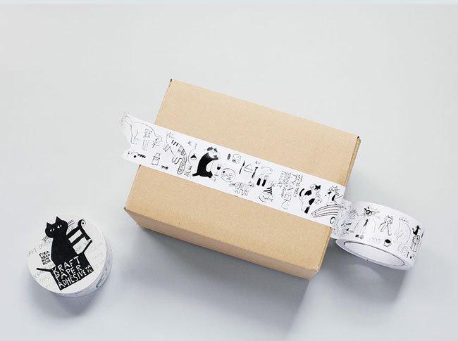 トラネコボンボン クラフト粘着テープ