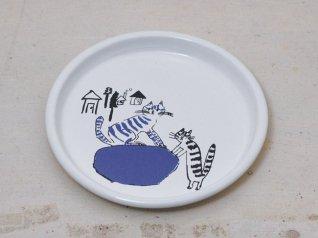 トラネコボンボン ほうろう給食パン皿 (ネコ)