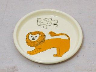 トラネコボンボン ほうろう給食パン皿 (ライオン)