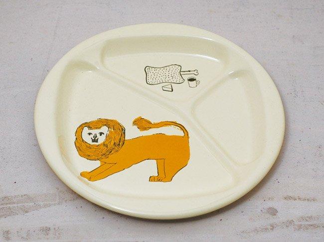 トラネコボンボン ほうろう給食大皿 (ライオン)