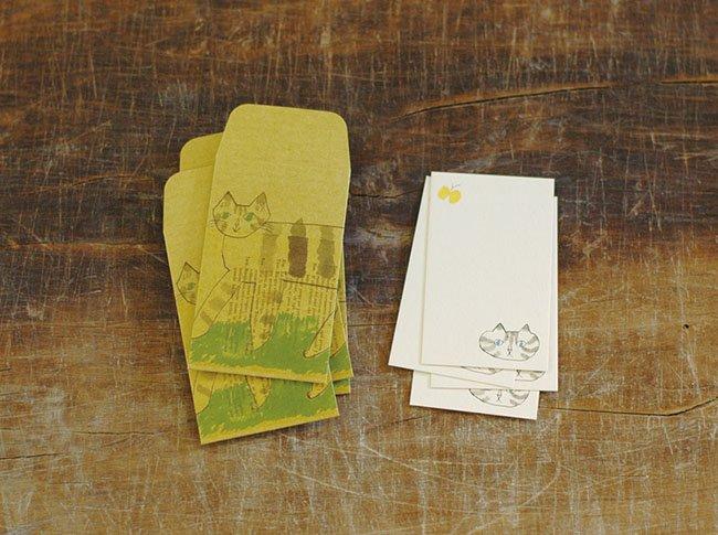 トラネコボンボン ぽち袋+カードセット S (Cat)