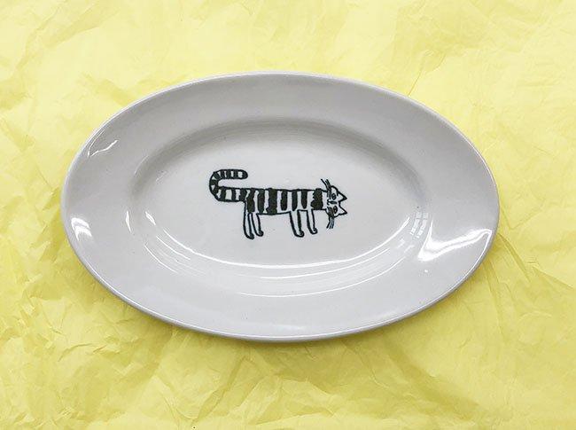トラネコボンボン 猫の楕円皿(大)