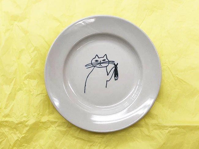 トラネコボンボン  猫の丸皿(小)