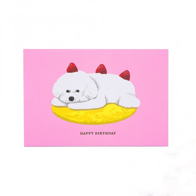 D-BROS Happy Birthdayカード イヌとケーキ<img class='new_mark_img2' src='https://img.shop-pro.jp/img/new/icons12.gif' style='border:none;display:inline;margin:0px;padding:0px;width:auto;' />