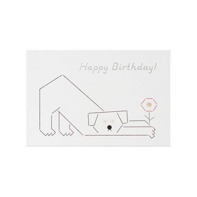 D-BROS  Happy Birthdayカード 「イヌ」<img class='new_mark_img2' src='https://img.shop-pro.jp/img/new/icons12.gif' style='border:none;display:inline;margin:0px;padding:0px;width:auto;' />