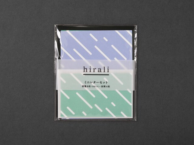 hirali|ミニレターセット かさねの色目 〜雨休み〜<img class='new_mark_img2' src='https://img.shop-pro.jp/img/new/icons12.gif' style='border:none;display:inline;margin:0px;padding:0px;width:auto;' />