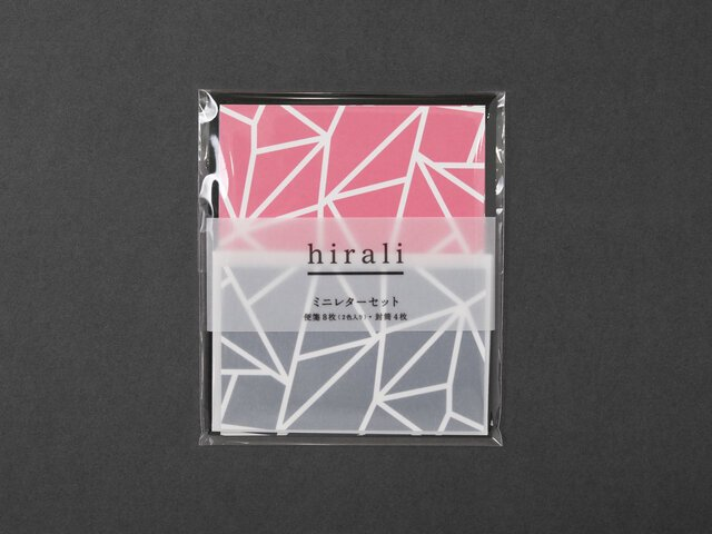 hirali|ミニレターセット かさねの色目 〜氷結ぶ〜<img class='new_mark_img2' src='https://img.shop-pro.jp/img/new/icons12.gif' style='border:none;display:inline;margin:0px;padding:0px;width:auto;' />