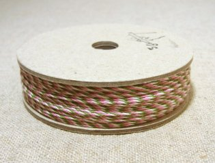 36オリジナル 3色 コットンミックス紐 50m ピンク・緑・白