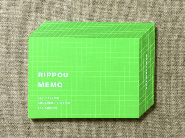 RIPPOU MEMO(方眼) アラスカ文具店<img class='new_mark_img2' src='https://img.shop-pro.jp/img/new/icons59.gif' style='border:none;display:inline;margin:0px;padding:0px;width:auto;' />