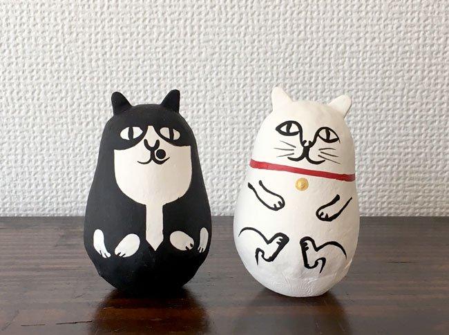 ミネットオリジナル三原猫だるま