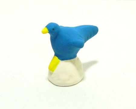 下川原焼のにしおゆき人形 「青い鳥」