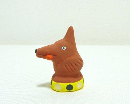 下川原焼のにしおゆき人形 「赤ずきんのオオカミ」