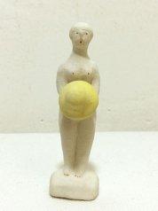 陶製人形 「白い頭の晴れ女」 にしおゆき