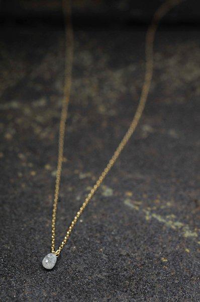 YGN267 K10YGグレーダイヤモンドネックレス