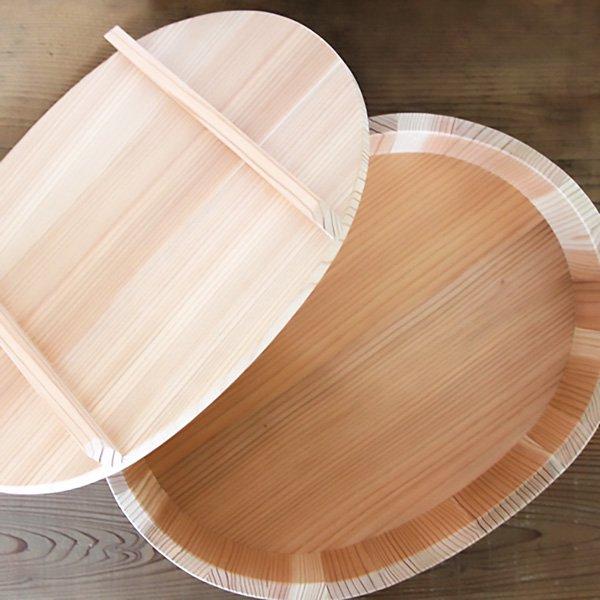 楕円の寿司桶・飯切り(蓋付)