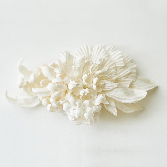 向井日香 花嫁のシルクヘッドピース 06