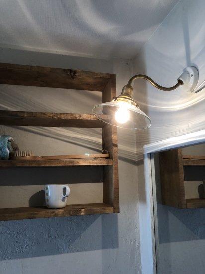 真鍮と陶器のウォールライト