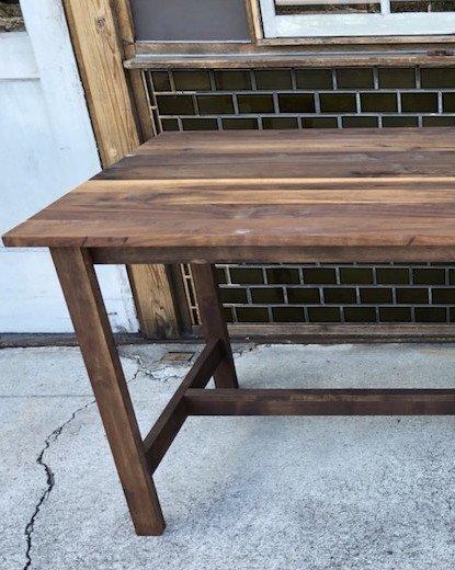 ウォルナットダイニングテーブル 図工脚 W1500 D800