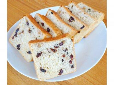 無農薬小麦粉100% レーズンくるみ食パン
