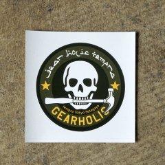gearholic skull ステッカー