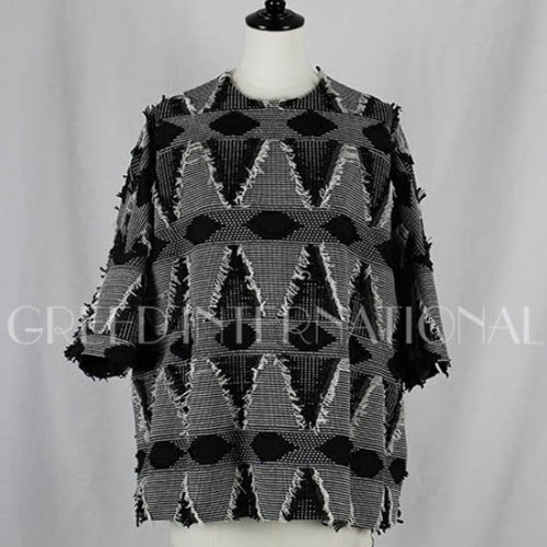 【GREED international】グリードインターナショナル/DUTEL GEOMETRIC JACQUARD Big Blouse 18aw予約