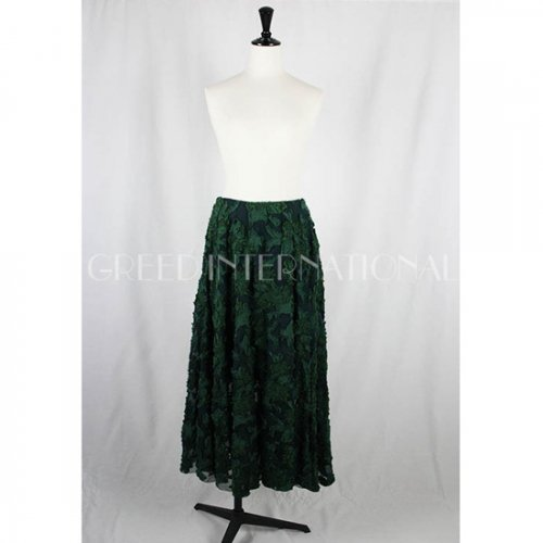【GREED international】グリードインターナショナル/FLOWER SHEER JACQUARD Skirt 18aw