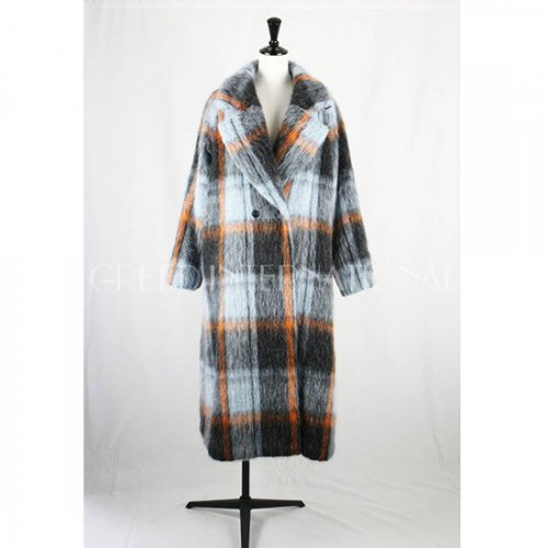 GREED international<br />CHECK SHAGGY Long Coat