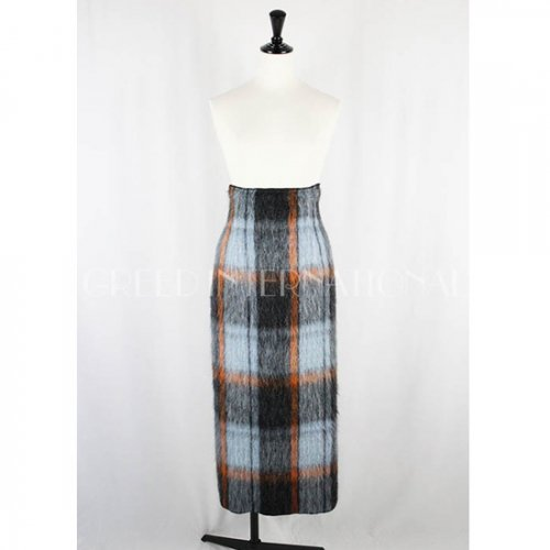 GREED international<br />CHECK SHAGGY Skirt