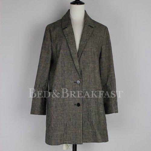 予約商品【BED&BREAKFAST】ベッドアンドブレックファスト/CO/LI CHECK Jacket 18aw予約