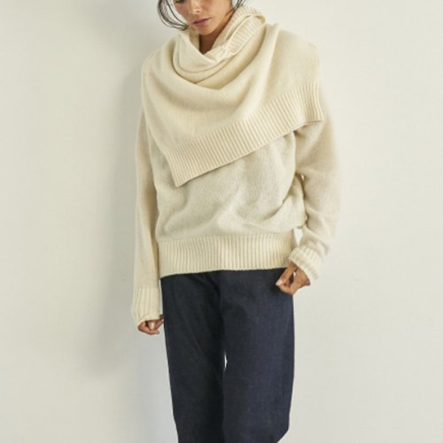 <img class='new_mark_img1' src='//img.shop-pro.jp/img/new/icons20.gif' style='border:none;display:inline;margin:0px;padding:0px;width:auto;' />50%OFF SEA<br />Wool Cashmere 2-in-1 Sweater