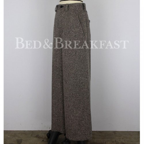 BED&BREAKFAST<br />JAZZ NEP TWEED WIDE PANTS