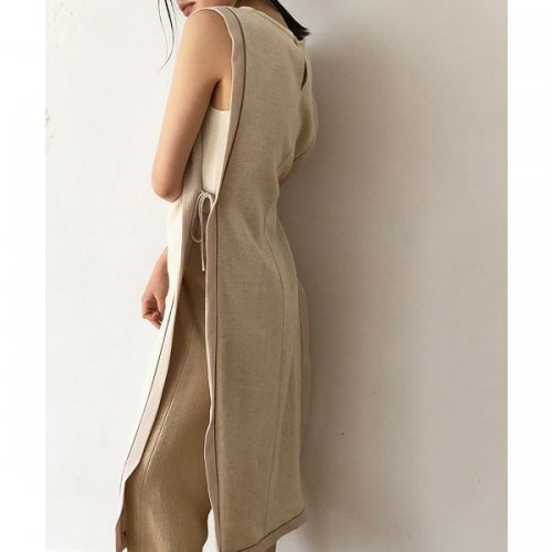 TODAYFUL<br />Piping Long Vest