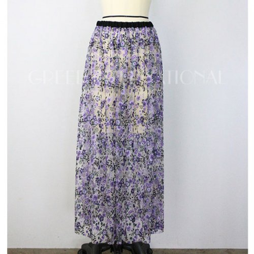 【予約】<br />GREED International<br />FlowerPattern Embroidery Skirt