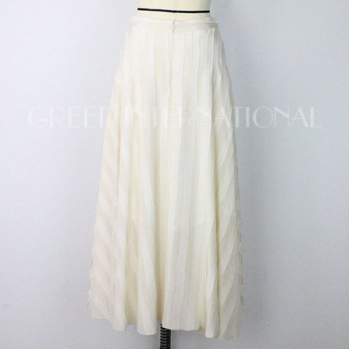 【予約】<br />GREED International<br />Striped Jacquard Skirt