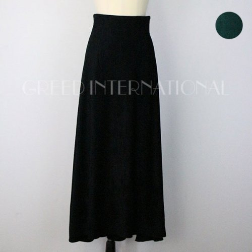 【予約】<br />GREED International<br />Striped Velour Skirt