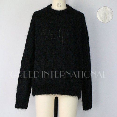 30%OFF!! GREED International<br />Kid Mohair Cable Knit Sweater<img class='new_mark_img2' src='https://img.shop-pro.jp/img/new/icons20.gif' style='border:none;display:inline;margin:0px;padding:0px;width:auto;' />