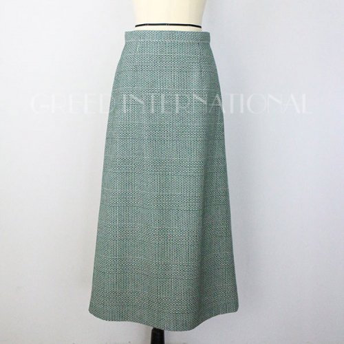 【予約】<br />GREED International<br />Super120Wool Glen Check Skirt