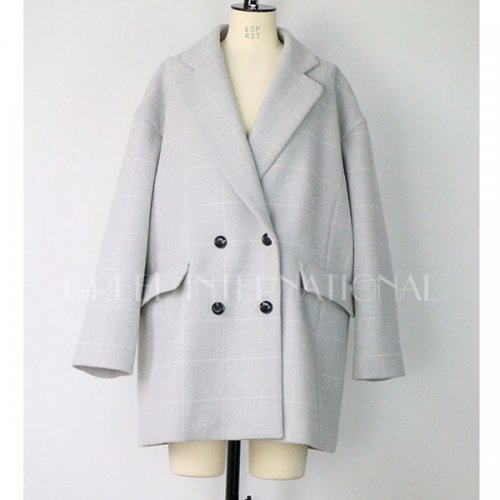 30%OFF!! GREED International<br />Reversible Check Wool Short Coat<img class='new_mark_img2' src='//img.shop-pro.jp/img/new/icons20.gif' style='border:none;display:inline;margin:0px;padding:0px;width:auto;' />