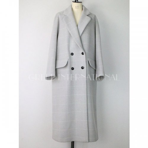 【予約】<br />GREED International<br />Reversible Check Wool Long Coat