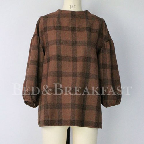【予約】<br />BED&BREAKFAST<br />Wool Check<br />Tops