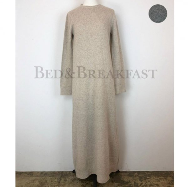 【予約】<br />BED&BREAKFAST<br />Silk Nep<br />Wool Dress