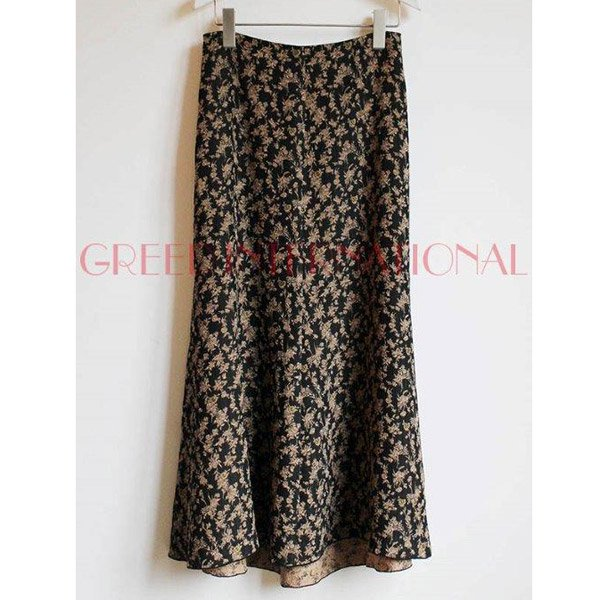 【予約】<br />GREED International<br />Classic Floral Jacquard Skirt