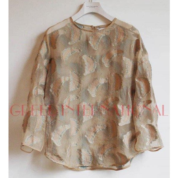【予約】<br />GREED International<br />Fether jacquard Tops