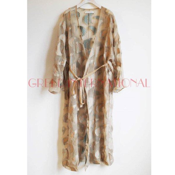 【予約】<br />GREED International<br />Fether jacquard Gown Dress