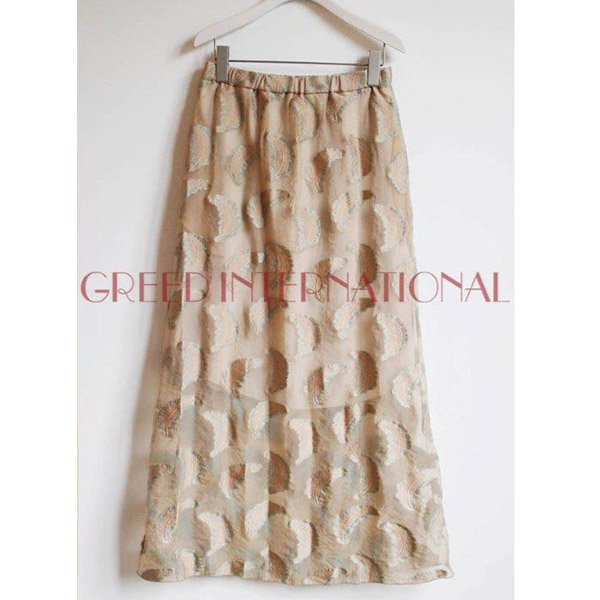 GREED International<br />Fether jacquard Skirt