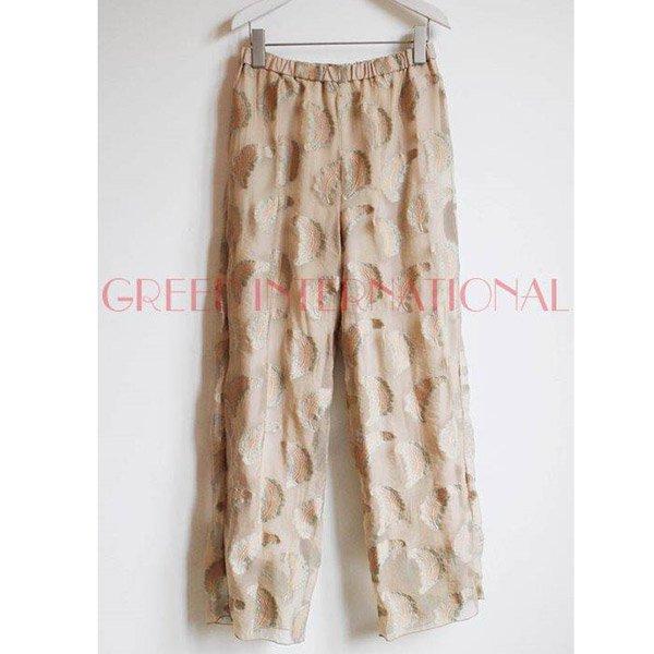【予約】<br />GREED International<br />Fether jacquard Pants