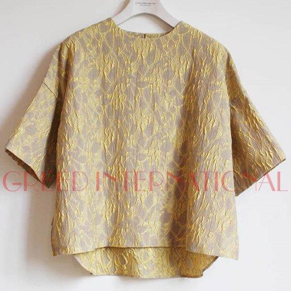 【予約】<br />GREED International<br />Splash Jacquard Tops