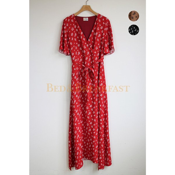 【予約】<br />BED&BREAKFAST<br />SummerFlowerJaquard Dress