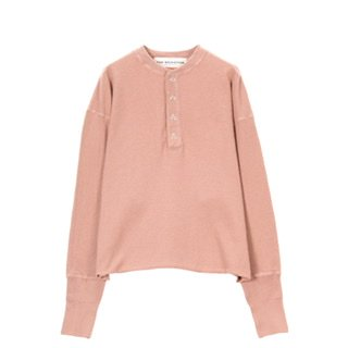 THE SHINZONE<br />ANDES WAFFLE HENLEY PULLOVER /12 PINK